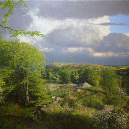 Martin Greenland Headland, Oil on canvas 90.5 x 121cm