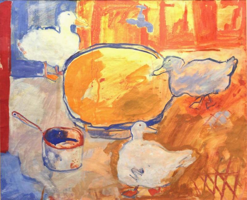 Ben Hartley Aquaquack, Gouache on Paper 56 x 70cm