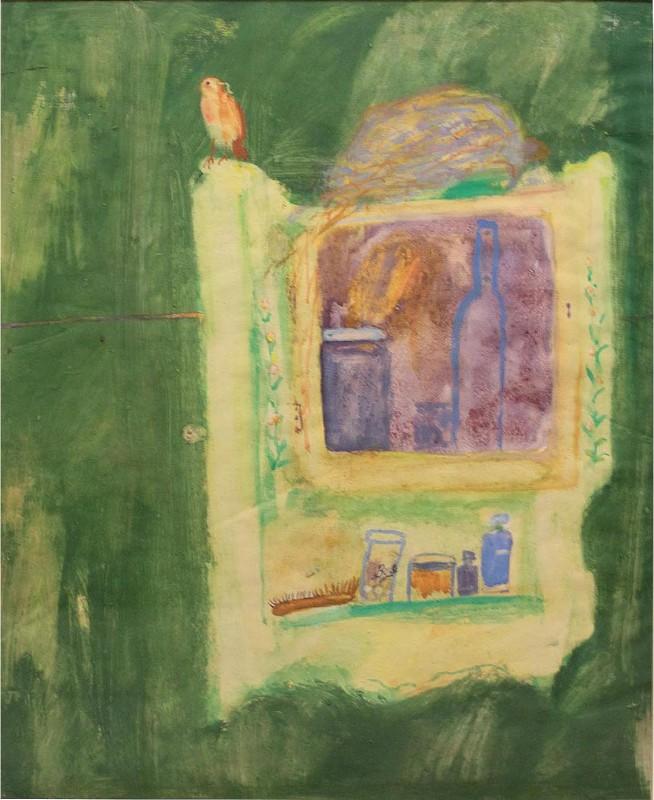 Ben Hartley Robin, Gouache on Paper 62 x 49 cm