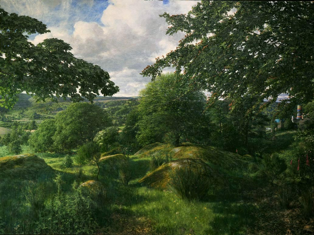 Martin Greenland Sanctum, Oil on canvas 90.5 x 121cm