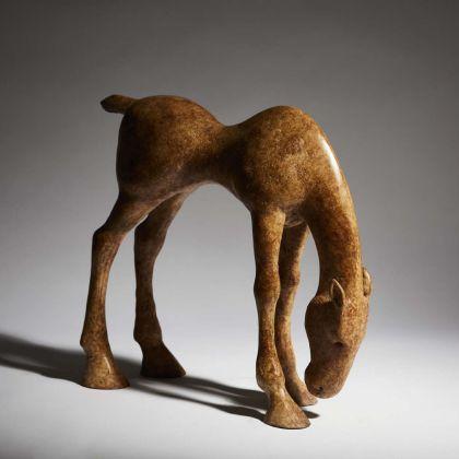 Anthony Scott Study for Grazing Foal, Bronze Ed. of 9 h10 x 28 x 30 cm.