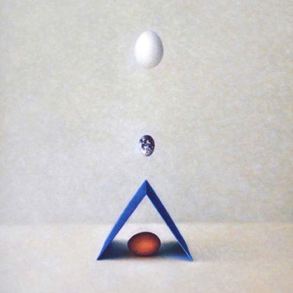 Atsuko Fujii Triple Dimensions, Acrylic on canvas 50 x 38 cm.