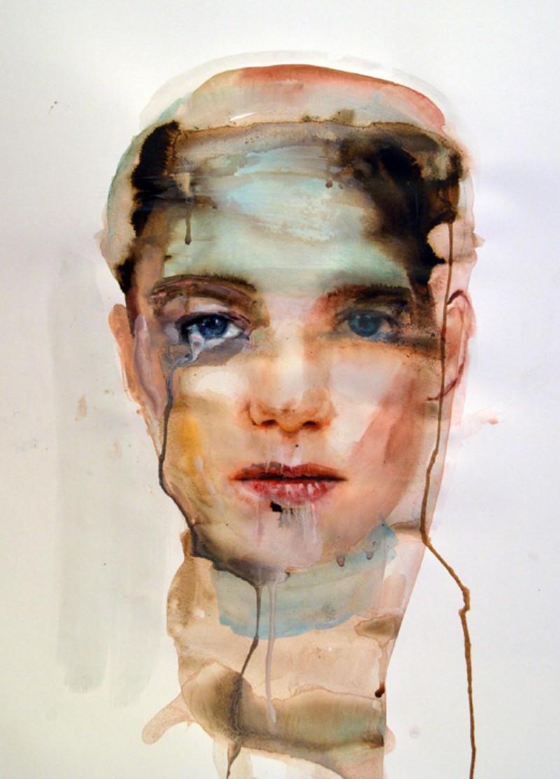 Martha Zmpounou Boygirl, Watercolour on Paper 50 x 40 cm.