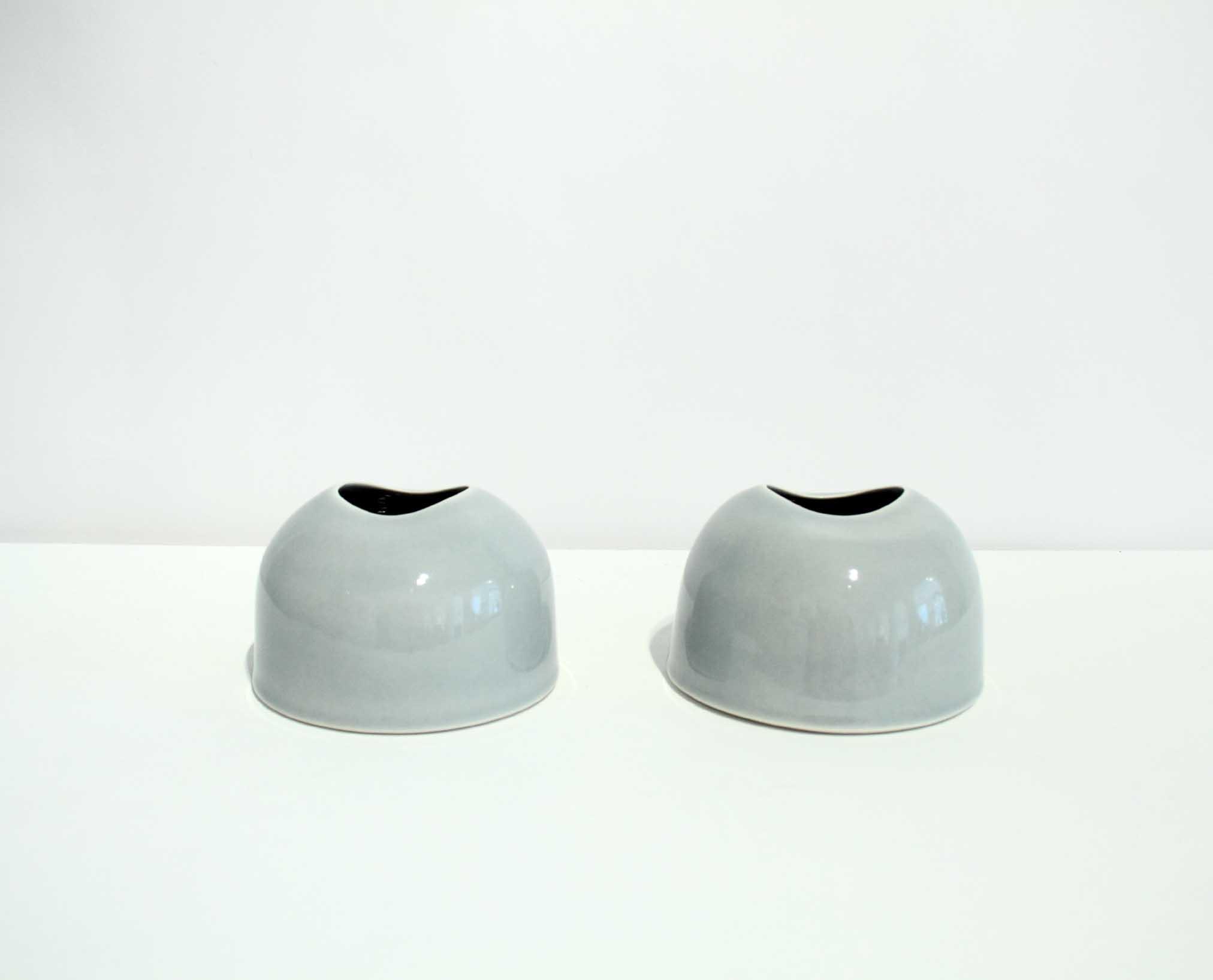 Tanya Gomez Table Vessels Porcelain Ice Grey Glaze 7.5 x 11.5 cm.