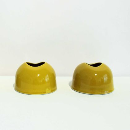 Tanya Gomez Table Vessels Porcelain Yellow Glaze 7.5 x 11.5 cm.