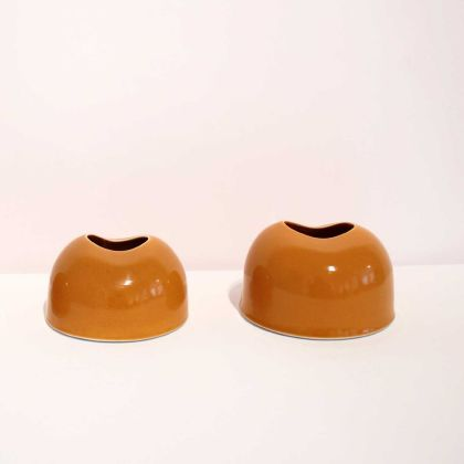Tanya Gomez Table Vessels Porcelain Yellow Orange Glaze 7.5 x 11.5 cm