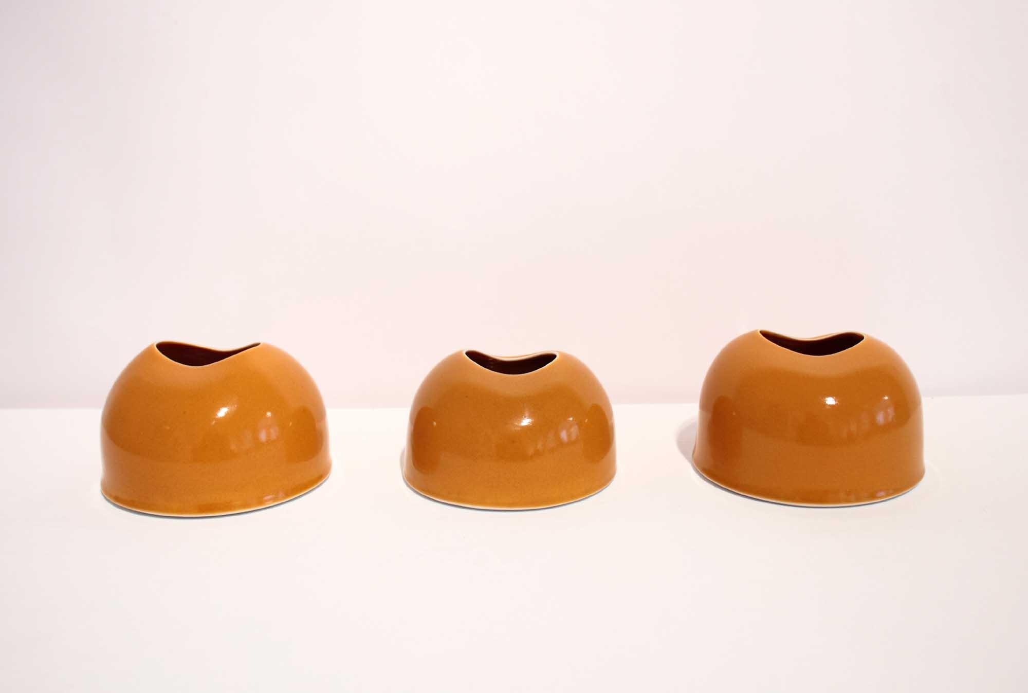 Tanya Gomez Table Vessels Porcelain Yellow Orange Glaze 7.5 x 11.5 cm