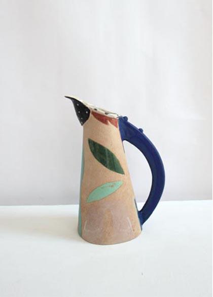 Jill Fanshawe Kato 40. Moon Jug, Stoneware h33 x 22 cm.