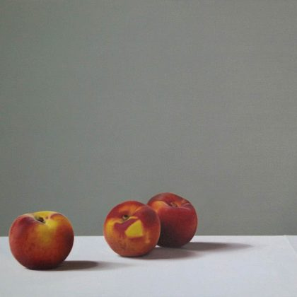 Jo Barrett Still Life of Peaches JB4/18 70 x 100cm