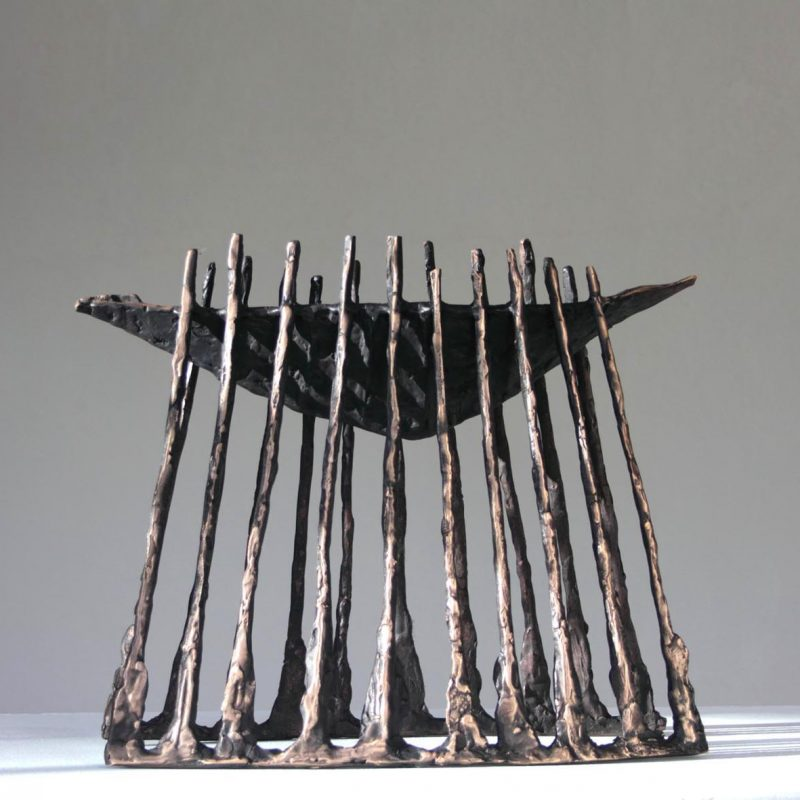 John Behan Corrib Boat, Bronze Ed. of 9 h35 x 42 x 18 cm