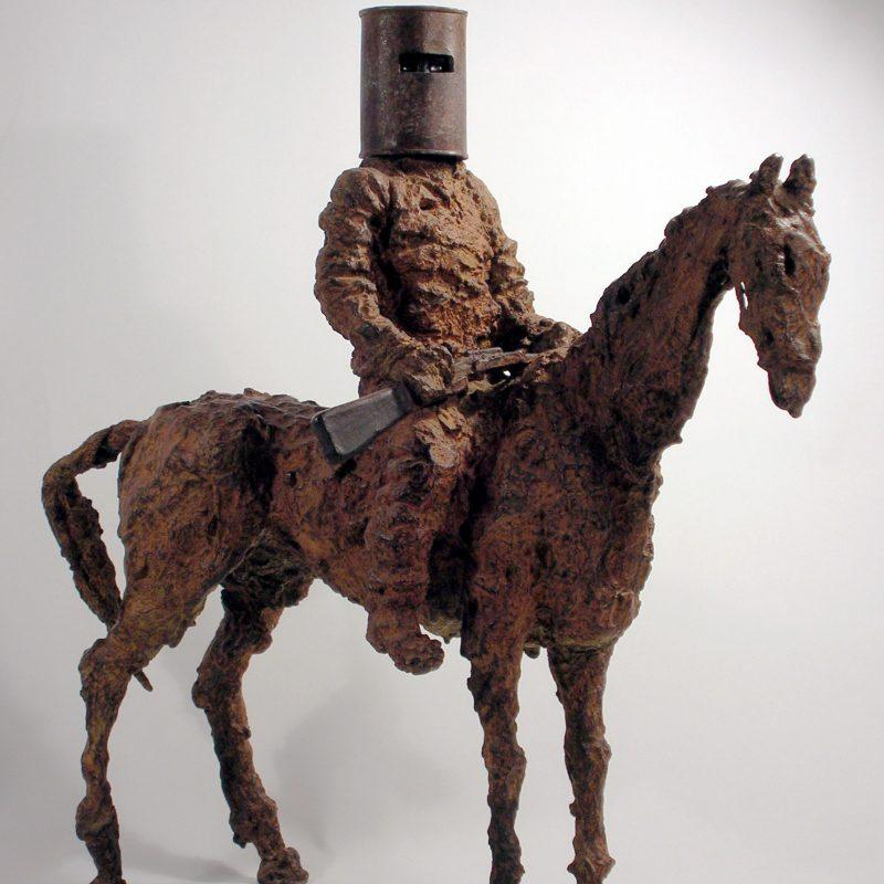 Deborah van der Beek Ned Kelly Outlaw, Bronze Ed. of 7 H45 x 45 cm.