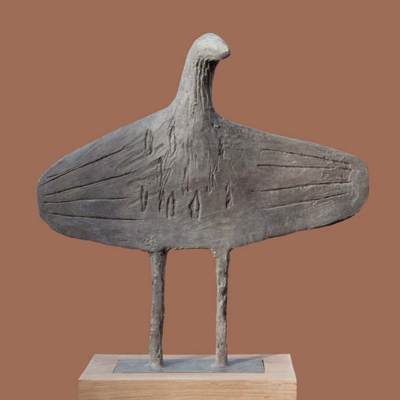 Christopher Marvell 1950's Flatbird, Bronze Ed. of 7 h35 x 35 cm.