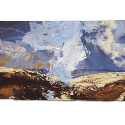 Near Settle. Big Sky', mixed media on paper, 39x58cm