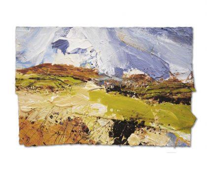 Spring Coming, Glynsaithmaen', mixed media on paper, 41x63cm