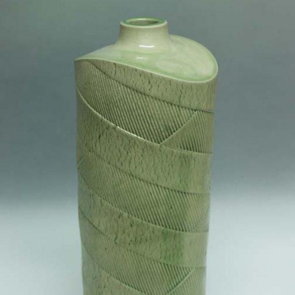 Suleyman Saba SS20_Tall vase, green glaze h33 x 14 cm