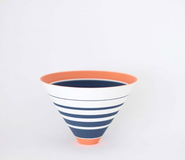 Sara Moorhouse 52. Small 'Pulse' bowl, Stoneware with hand painted underglazes h10 x 14.5 cm.