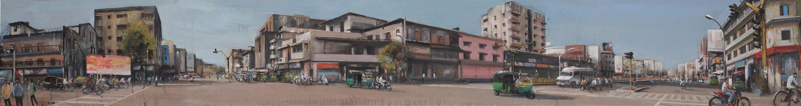 Akash Bhatt Davaa, Oil on Canvas