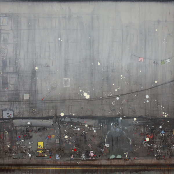 Nathan Ford Project GreyHope Five Plus, Oil on Board 80 x 121 cm.