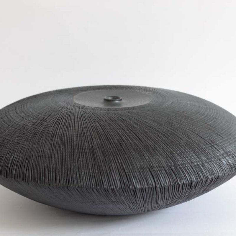Christiane Wilhelm 7. Lens, Dark Structure Stoneware ht. 12 x Ø 32 cm.