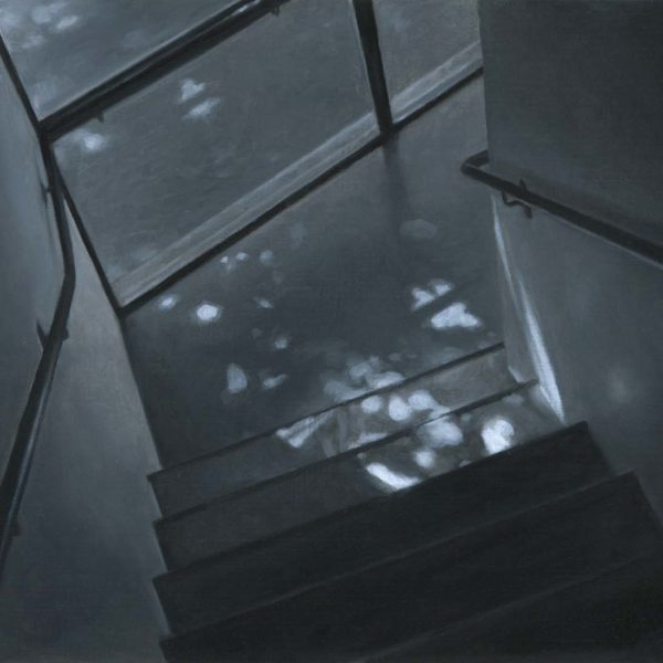 Nicholas Middleton Stairwell, Oil on paper on card 10 x 15 cm.