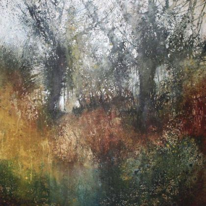 Stewart Edmondson Brightest Tangle Acrylic on paper 62 x 67 cm.