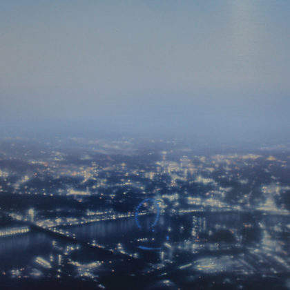 Jenny Pockley, London Eye- Blue 40 x 50cms, Oil on Aluminium