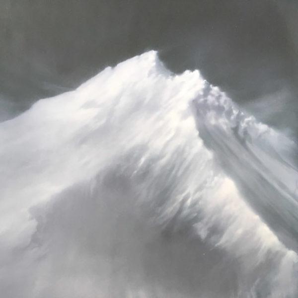 Jenny Pockley, Mountain Oil on Carborundum 125 x 90cms