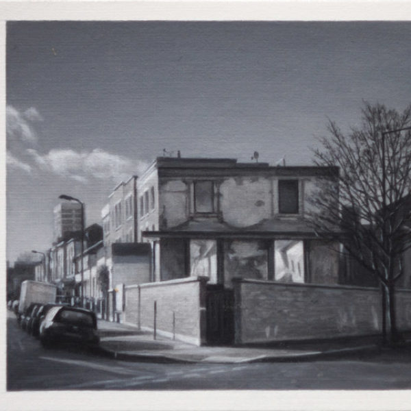 nicholas-middleton The Moleman's House Oil on Card 10 x 15 cm.