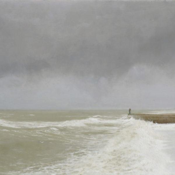 Helen Masacz Changes, Oil on Board 40 x 79 cm.