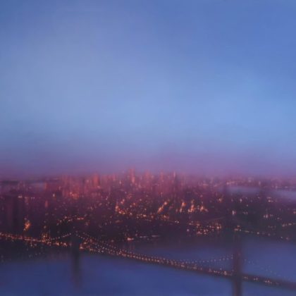 Jenny Pockley East River, Oil on Canvas 130 x 170 cm.