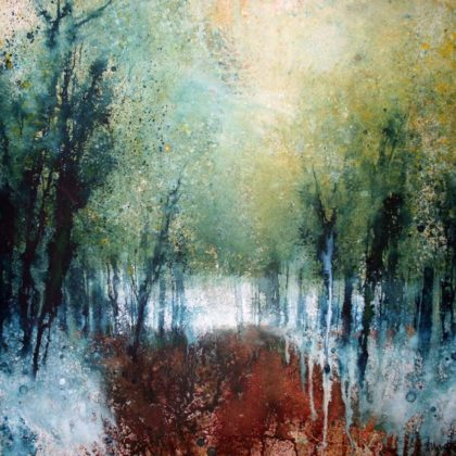 Stewart Edmondson Deep in Kings Wood Acrylic on paper 87 x 90cm