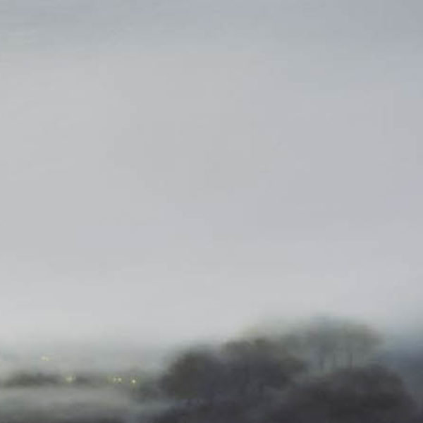 Gill Rocca From Nowhere III, Oil on canvas 60 x 180 cm.