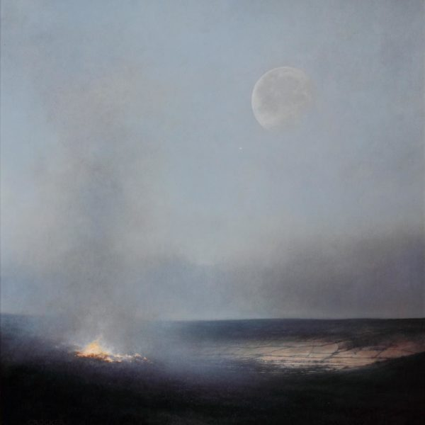 Andrew Crocker Held There, Oil on board 57 x 52 cm.