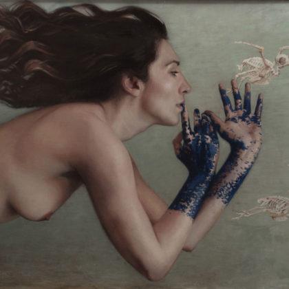 Helen Masacz The Bends, Oil on board 45 x 62 cm