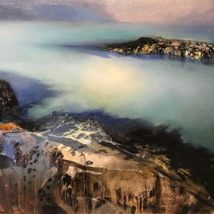 Beth Robertson Fiddes West Coast Shallows, Mixed Media on Wood 78 x 107 cm.