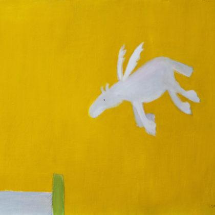 Andrew Squire Pegasus, Oil on board 60 x 50 cm.