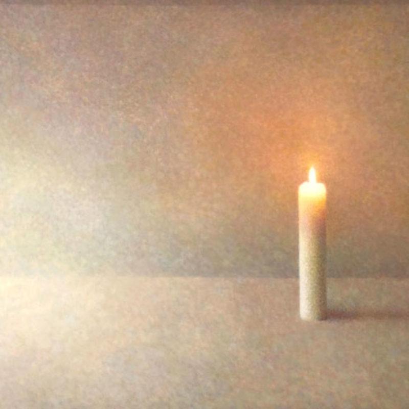 Atsuko Fujii Poetry of Silence, Egg tempera on board 30 x 50 cm.