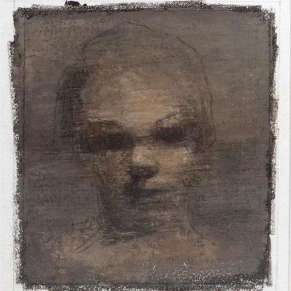 Anthony Scullion Portrait Study II, Oil on Paper 33 x 28 cm.