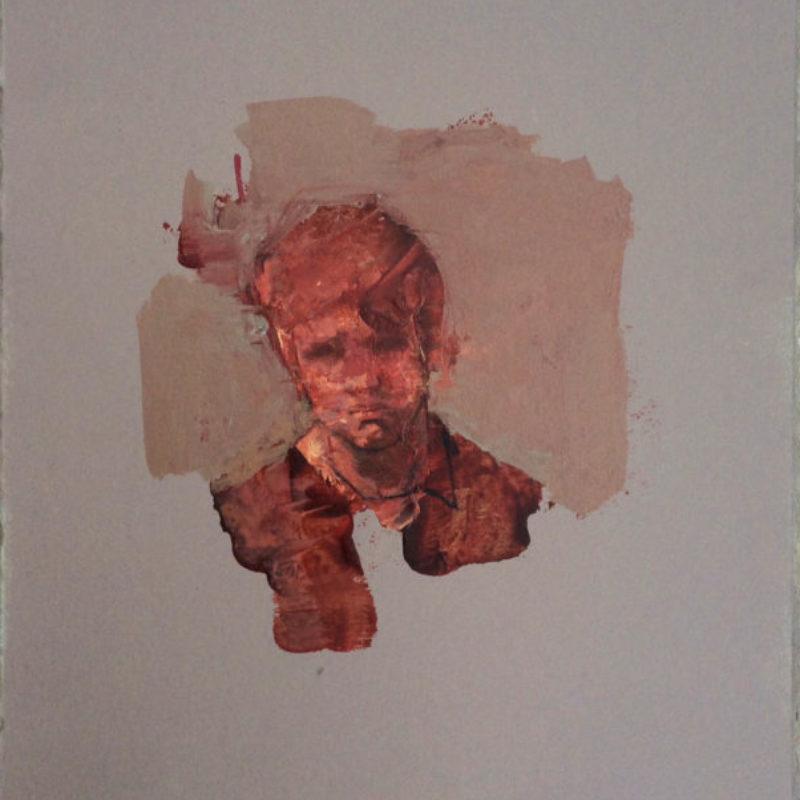 Anthony Scullion Portrait study Acrylic on wood 29x 26 cm