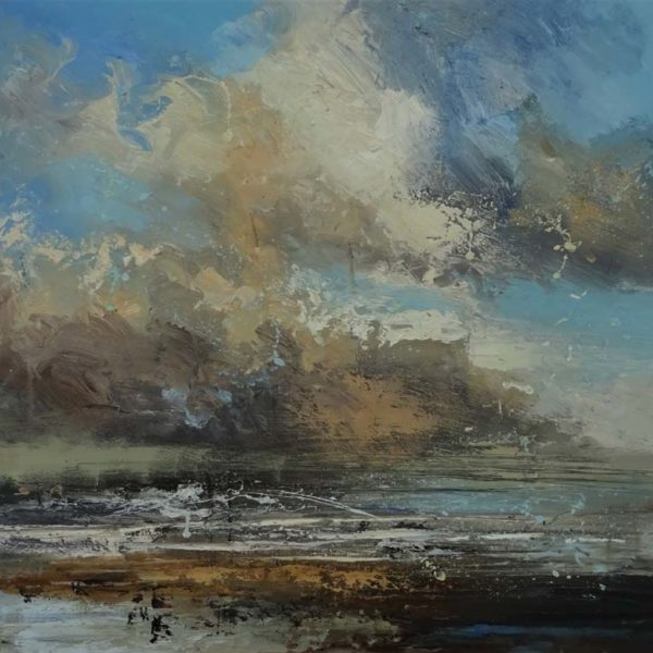 Claire Wiltsher Shifting Elements V, Mixed media on canvas 80 x 80 cm.