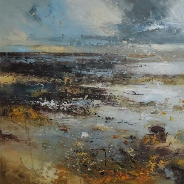 Claire Wiltsher Time collector VIII, Mixed media on canvas 80 x 80 cm.