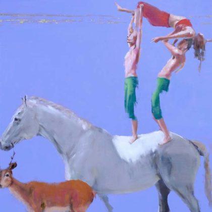 Richard Twose Horizon, Oil on board 122 x 104 cm.