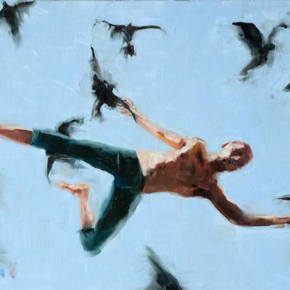Richard Twose ImitationII, Oil on board 42x62cm