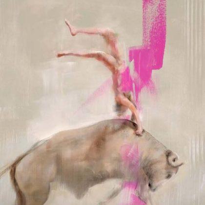 Richard Twose Leap II, Oil on board