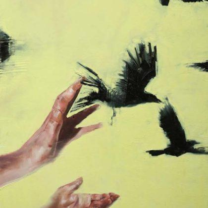 Richard Twose Possession, Oil on board 62 x 83 cm.
