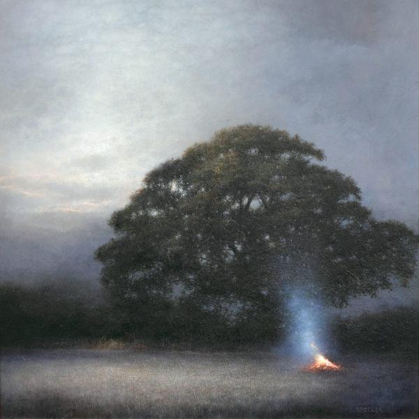 Andrew Crocker Today is Yesterday, Oil on Board 57 x 49 cm.