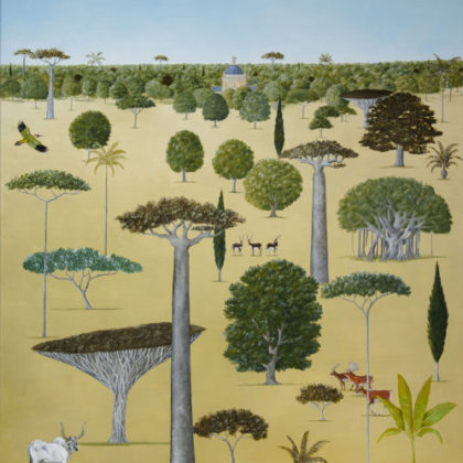 Rebecca Campbell The Tree Collector Oil on linen 122 x 91 cm