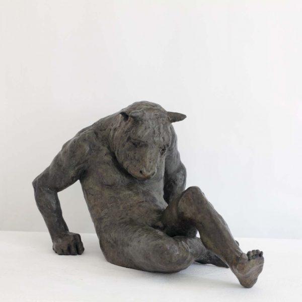 Beth Carter Fallen Minotaur, Bronze Edition of 10 48 x 32 x 31 cm.