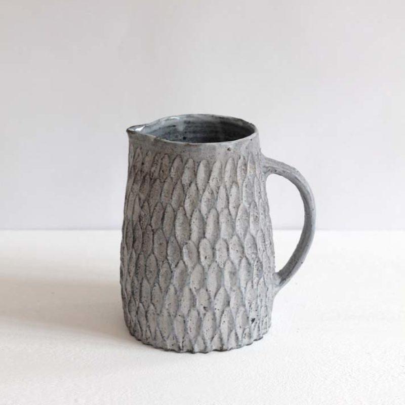Akiko Hirai H16. Dry Kohiki Jug, Stoneware h18 cm.