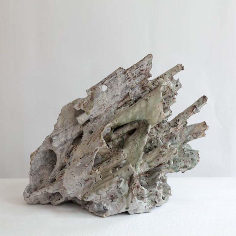 Akiko Hirai H9. Abandoned Mulberry Medium, Stoneware h36 x 30 x 45 cm.